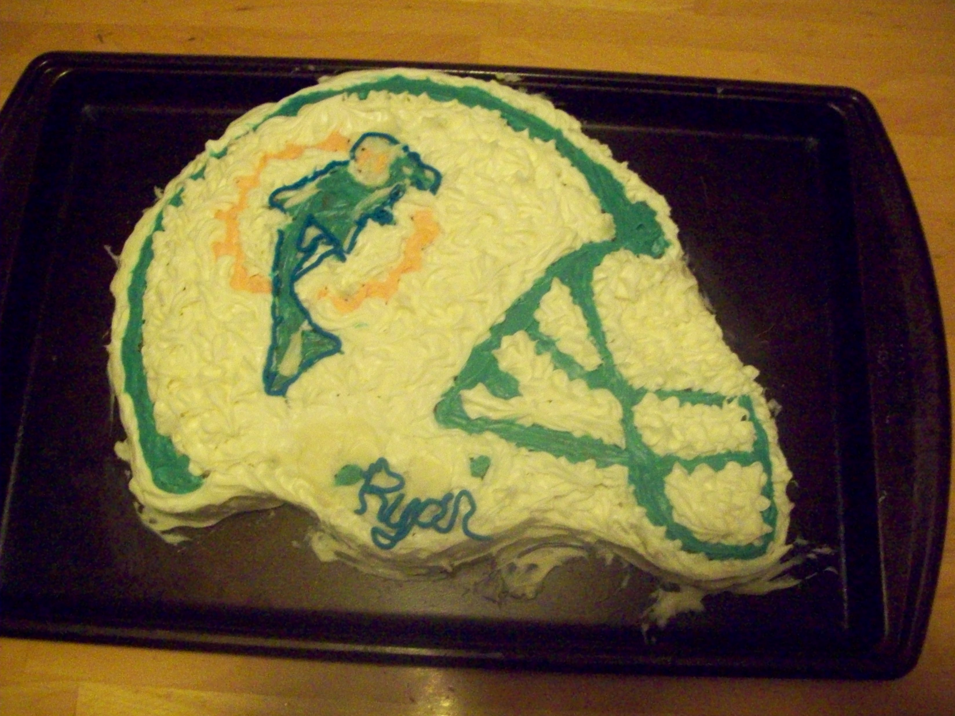 Miami Dolphins Fan Cake Delicious Desserts With Karen
